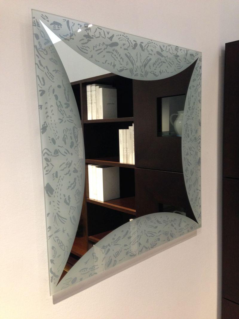 Specchio glass square rassegna contemporanei d 39 arredo for Diotti arredamenti